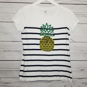 Crown & Ivy   Striped Pineapple Sequin Shirt
